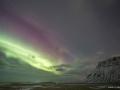 Aurora dietro al Kirkjufell