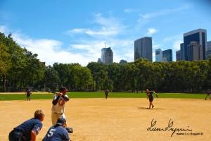 New York - Central Park baseball court